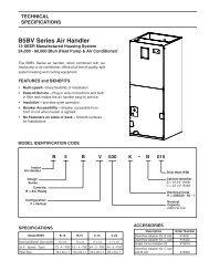 B5BV Series Air Handler - Nordyne