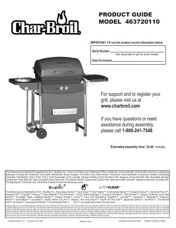 product guide model 463720110 - Char-Broil Grills