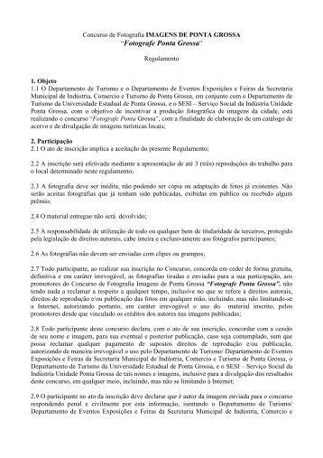 """""""Fotografe Ponta Grossa"""" - Universidade Estadual de Ponta Grossa"""