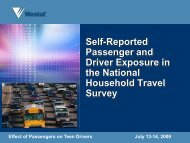 Self-Reported Passenger and Driver Exposure in the National ...