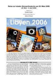 Reise zur totalen Sonnenfinsternis am 29. März 2006 - Robert Nufer ...