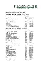 Durchfahrtszeiten Mille Miglia 2007 Etappe 1 ... - Classicdriver