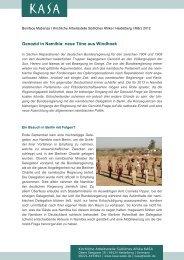Genozid in Namibia: neue Töne aus Windhoek