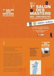1er SALON DES MASTERS - Université d'Avignon et des Pays de ...