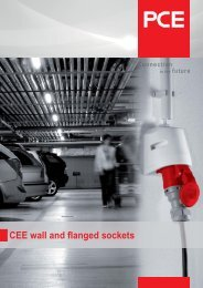 CEE wall and flanged sockets - pc electric