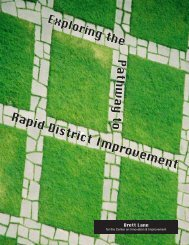 Rapid District Improvement - Academic Development Institute