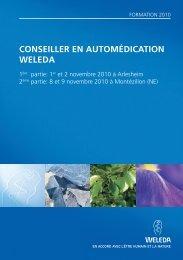 CONSEILLER EN AUTOMÉDICATION WELEDA