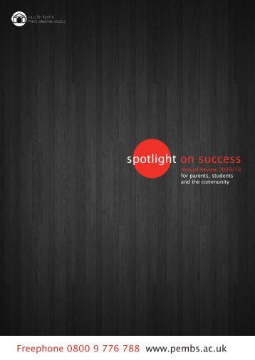 spotlight on success - Pembrokeshire College