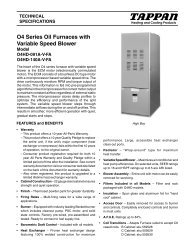 O4 Series Oil Furnaces with Variable Speed Blower - Nordyne