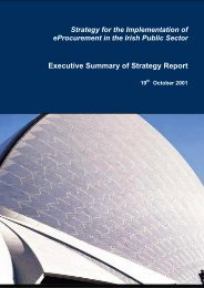 Executive Summary of Strategy Report - the eTenders procurement ...