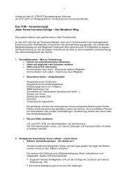 Das TCM – Vereinskonzept Jeder Verein hat seine ... - TC Menden