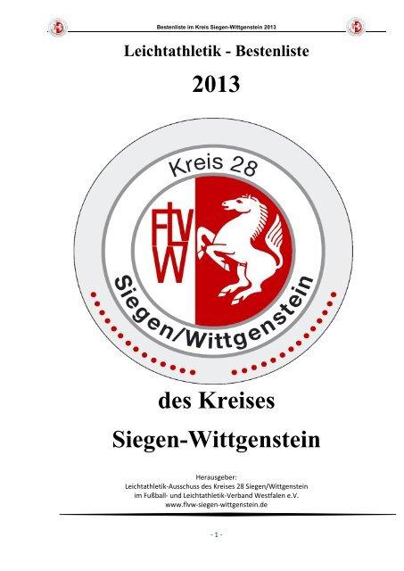 offizielle Kreisbestenliste 2013