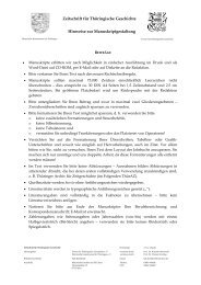 Manuskriptgestaltung - Verein für Thüringische Geschichte e.V.