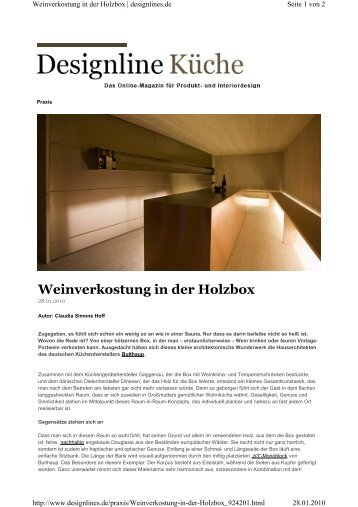 Weinverkostung in der Holzbox - claudiasimonehoff.de