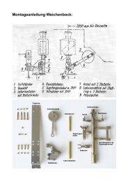 Zusammenbau mf-pur Weichenbock - Asoa