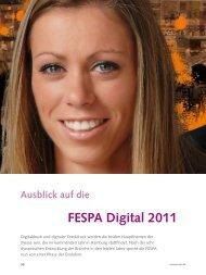 Ausblick auf die FESPA Digital 2011 - POS+SIGN