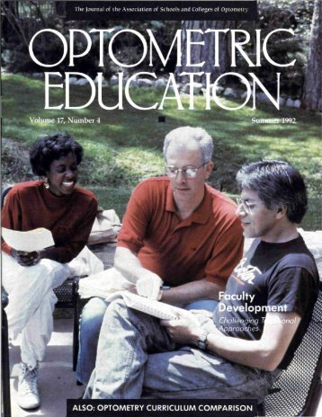 Summer 1992, Volume 17, Number 4 - Association of Schools and ...