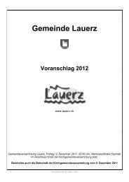 Voranschlag 2012 - Gemeinde Lauerz
