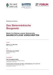 Das Steiermärkische Baugesetz - Kammer der ZiviltechnikerInnen ...