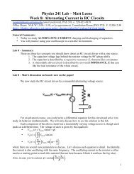 Alternating Current in RC Circuits