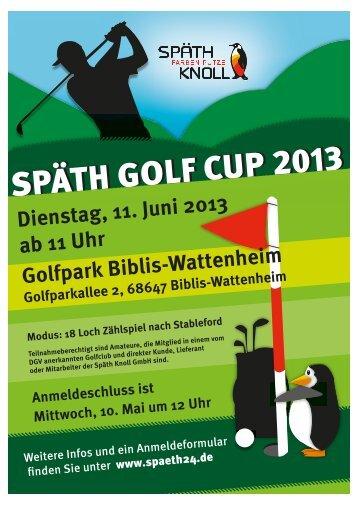 SPÄTH GOLF CUP - Späth Knoll