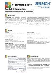 Produktinformation - Seelbach International GmbH
