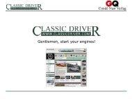 Gentlemen, start your engines! - Classicdriver