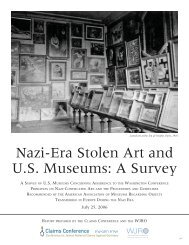 Nazi-Era Stolen Art and US Museums - Conference on Jewish ...