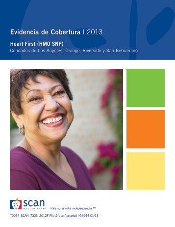 evidencia de cobertura | 2013 - SCAN Health Plan
