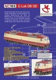 ACME Neuheit 2013 DB BR 120 - Menzels Lokschuppen