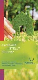 Flyer: proKlima stellt sich vor - proKlima Hannover