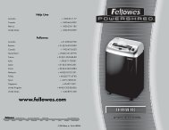 Fellowes - Financial Equipment Company