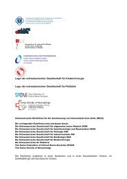 Logo der schweizerischen Gesellschaft für Kinderchirurgie Logo der ...