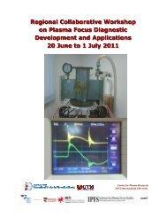 Regional Collaborative Workshop on Plasma Focus Diagnostic ...