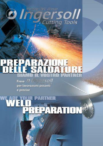PREPARAZIONE WELD PREPARATION DELLE SALDATURE