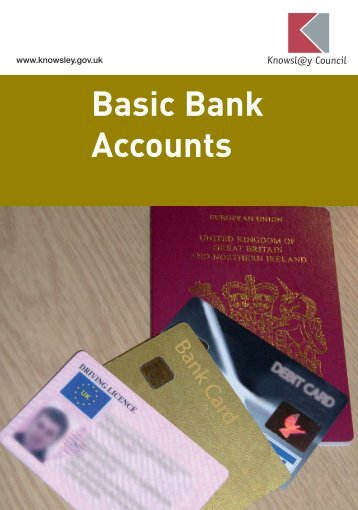 Basic Bank Accounts - Knowsley Council