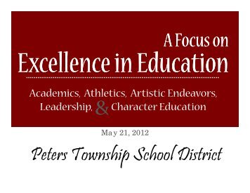 May 21, 2012 - Peters Township School District
