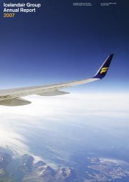 Icelandair Group Annual Report 2007