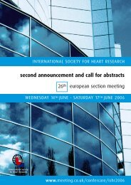 second announcement and call for abstracts - International Society ...