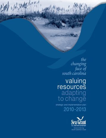 2010-2013 Strategic and Implementation Plan - SC Sea Grant ...