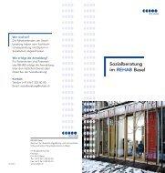 Sozialberatung im REHAB Basel