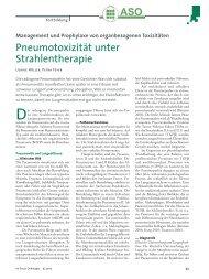Pneumotoxizität unter Strahlentherapie