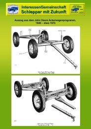 Auszug aus dem John Deere Ackerwagenprogramm, 1940 – etwa ...
