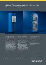 Datenblatt Schüco Warmwasserspeicher 200 ... - Gerenda Solar