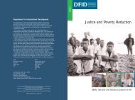 Justice and Poverty Reduction - GSDRC