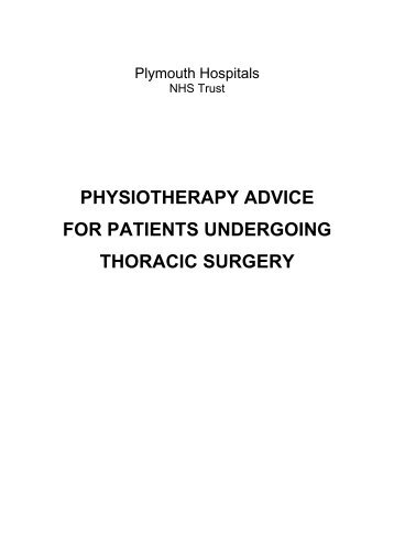physiotherapy advice for patients undergoing thoracic surgery