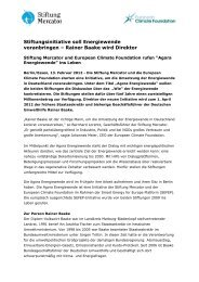 Presseinfo Februar 12: Start Agora - Stiftung Mercator
