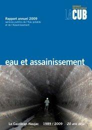 O 200 - RA 2009 - EAU ASSAIN.indd - Participation de la CUB et de ...