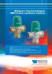 Mitigeurs Thermostatiques MMV-S pour systèmes ... - Watts Industries