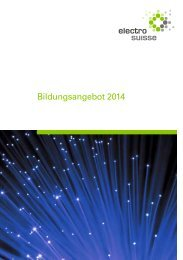 Bildungsangebot 2014 - Electrosuisse